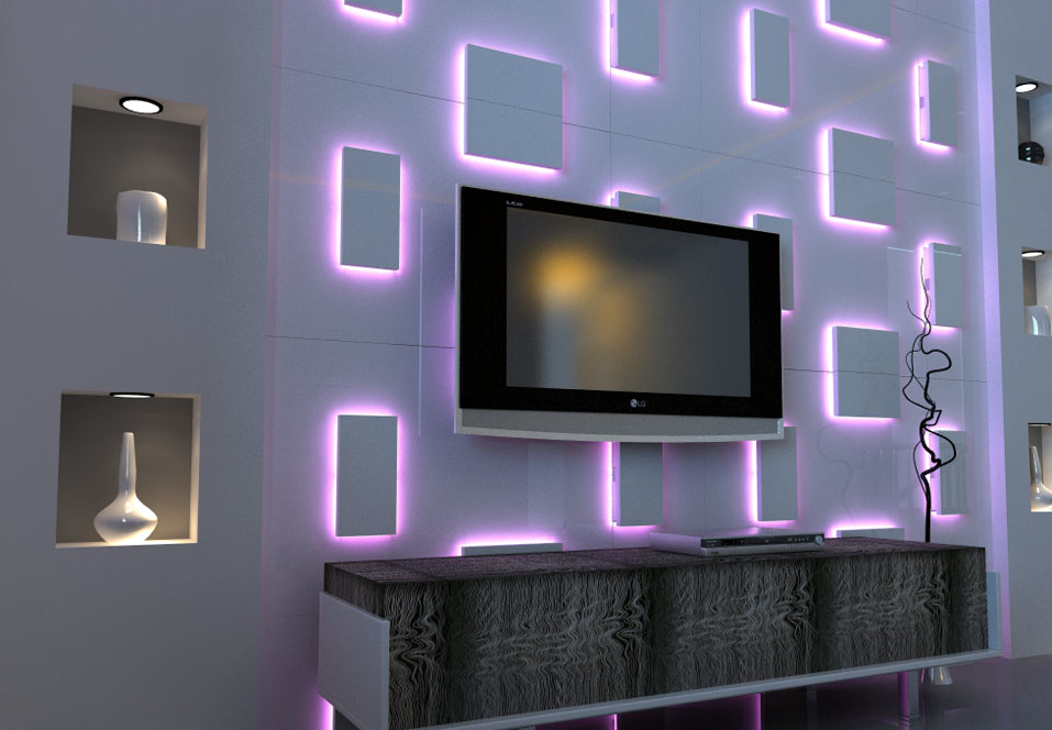 3d wall panel led google search my new attic Wall light living room ideas