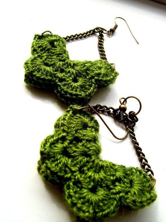 Romantic crochet earrings by AlejandraJacoby on Etsy ...