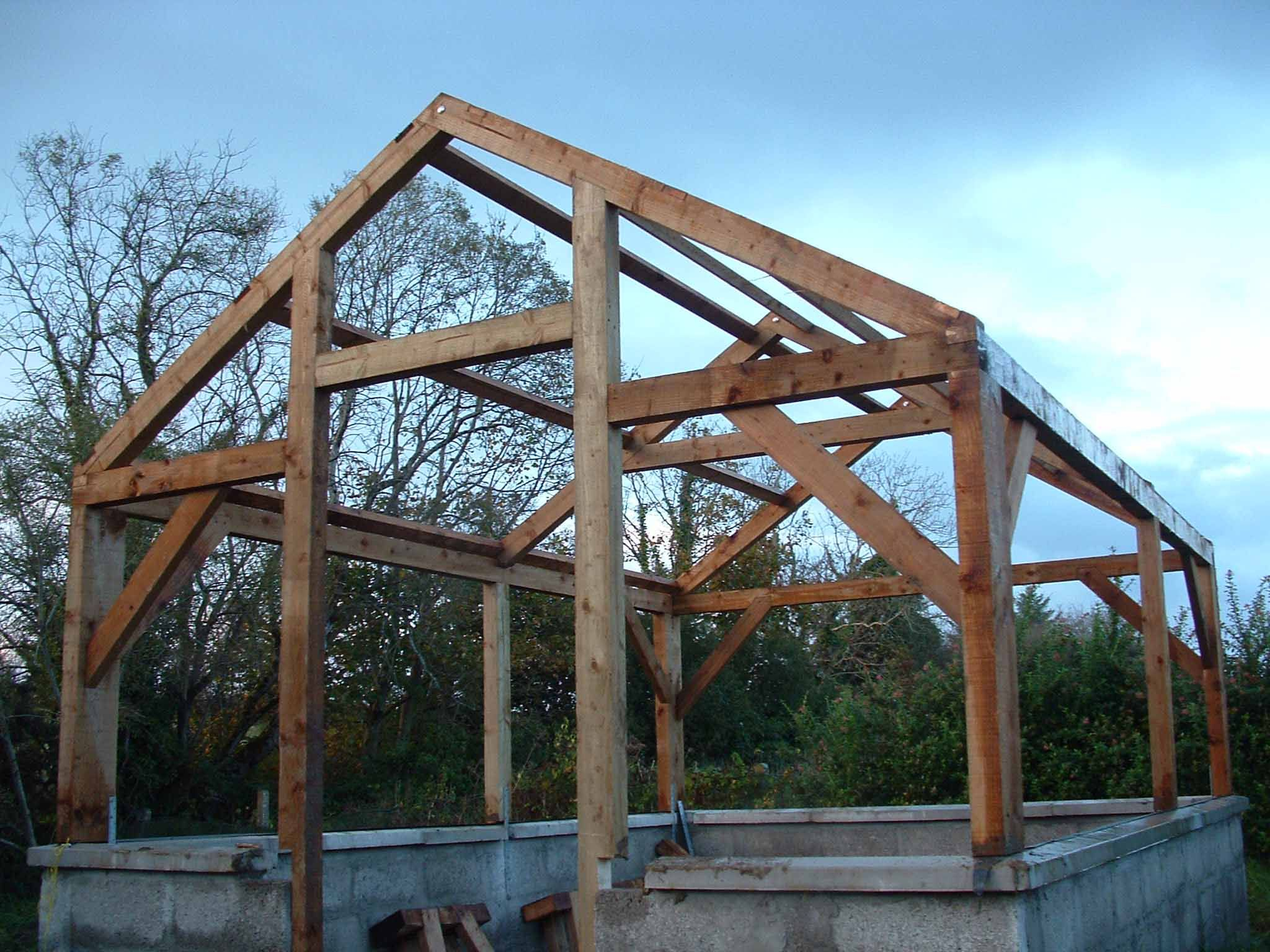 Timber Frame Greenhouse Solar Room Plans