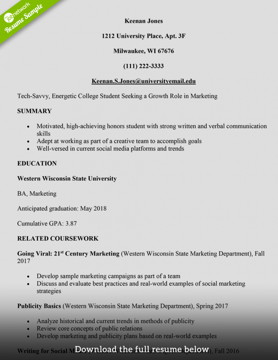 11 Faculty Pupil Resume Examples 11 College Student Resume