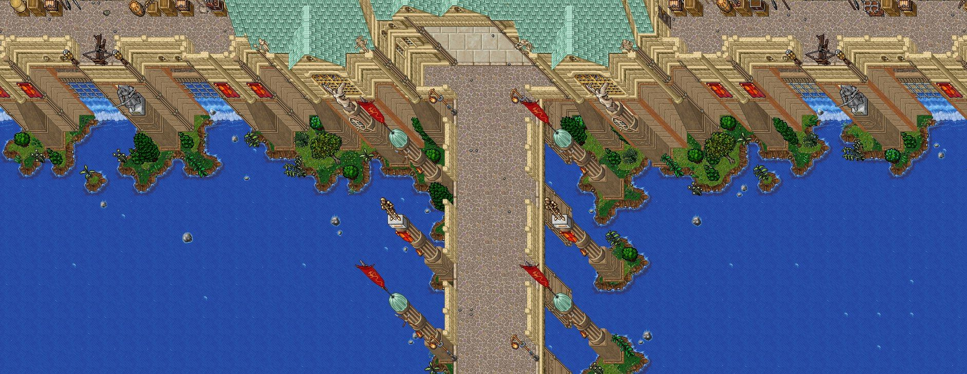 Tibia World Map.New Open Fantasy World With Epic Monsters Pixelart 2d Tibia