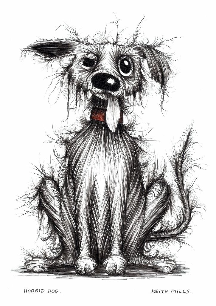 Horrid dog by Keith Mills.
