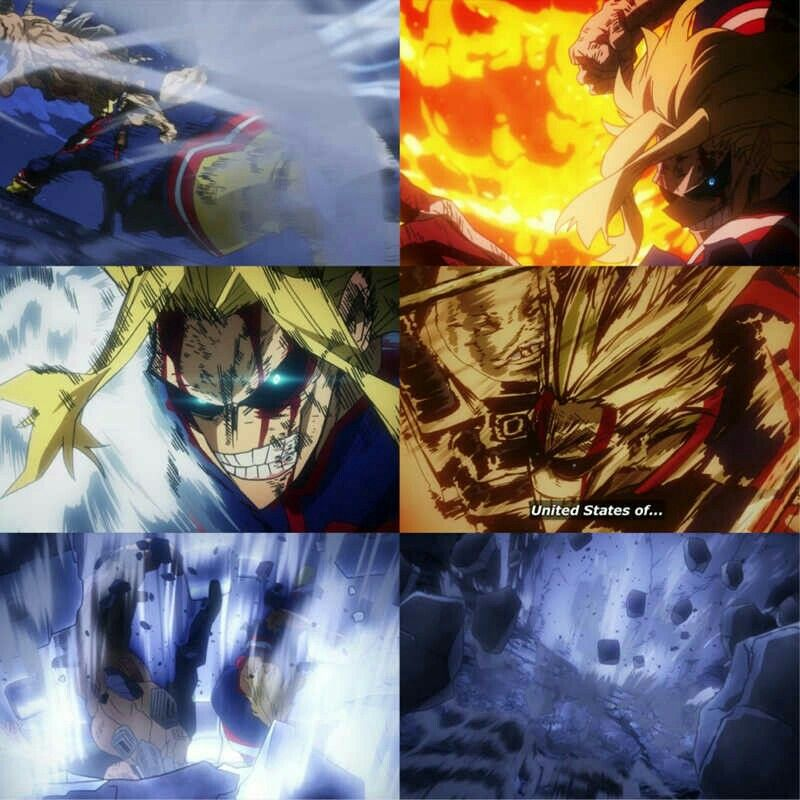 All Might Vs All For One My Hero Academia With Images My