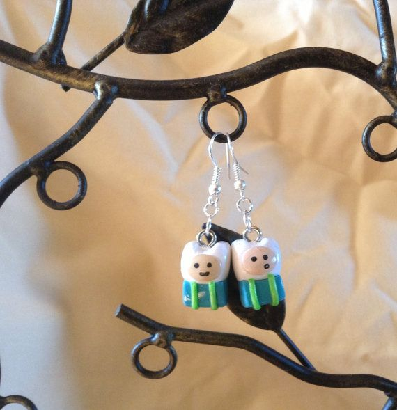 Adorable Adventure Time Finn Inspired Dangle by The3Citrusteers, $8.00 Please come by our shop and check out our other items. Thanks! :)