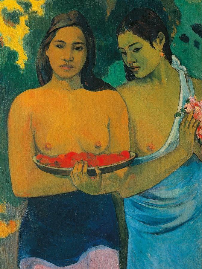 Two Tahitian Women By Paul Gauguin Gauguin Paul Pinterest
