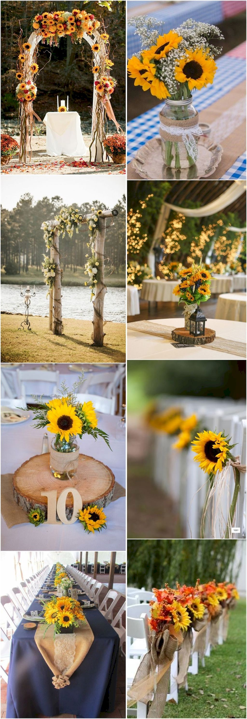 Adorable 101+ Country Rustic Sunflower Wedding Theme Ideas