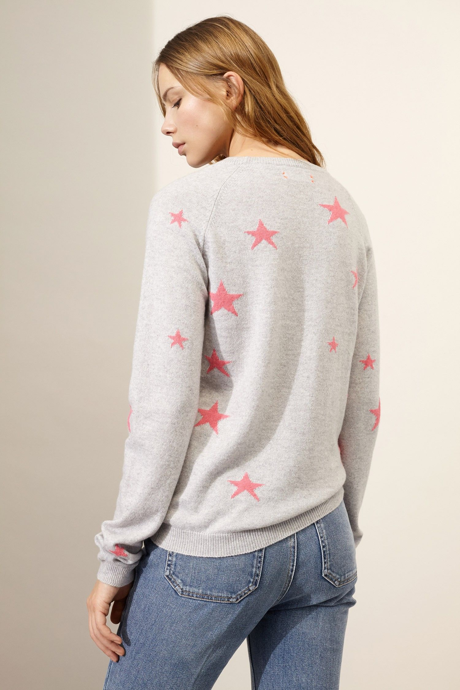Grey Star Cashmere Sweater | Luxury Cashmere Sweaters | Chinti and ...