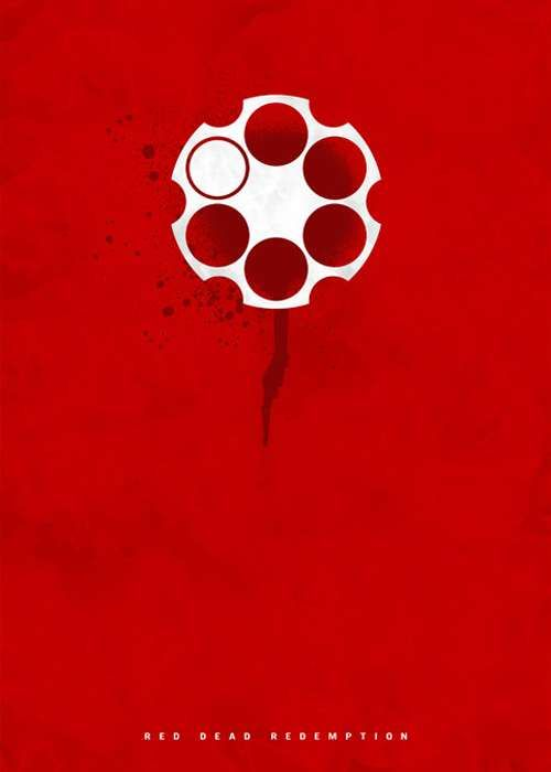 Excessively minimalist movie posters game of red dead for Minimal art online