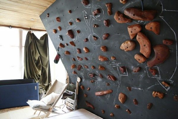 Indoor Rock Climbing Wall Design Ideas Black Rock Climbing Wall Home Sports  Activities