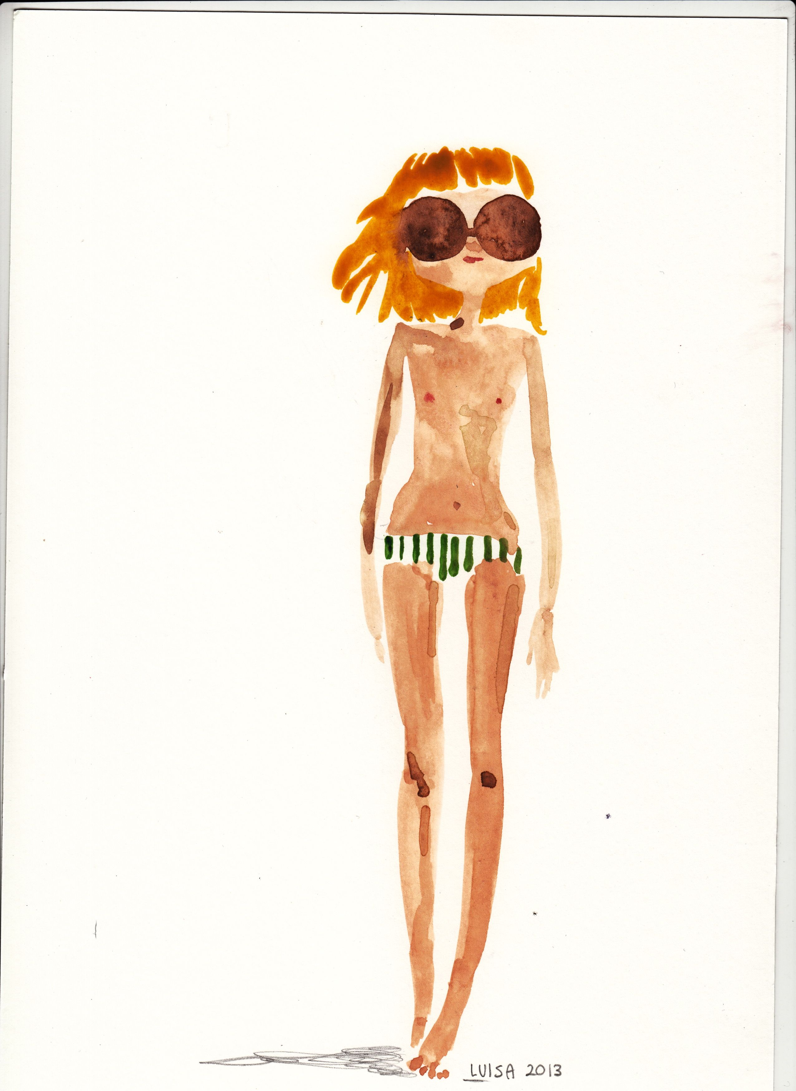 summertime_ watercolor by Luisa Montalto