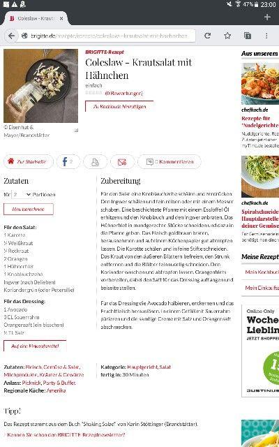 Coleslaw mit Hähnchen