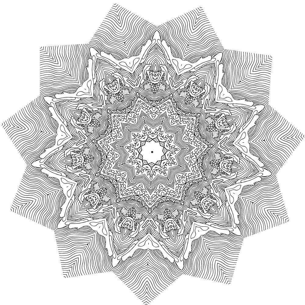 Heal Mandala Coloring book for adults Pattern 4