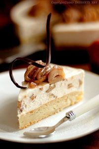 Gâteau aux pommes et à la crème de marrons