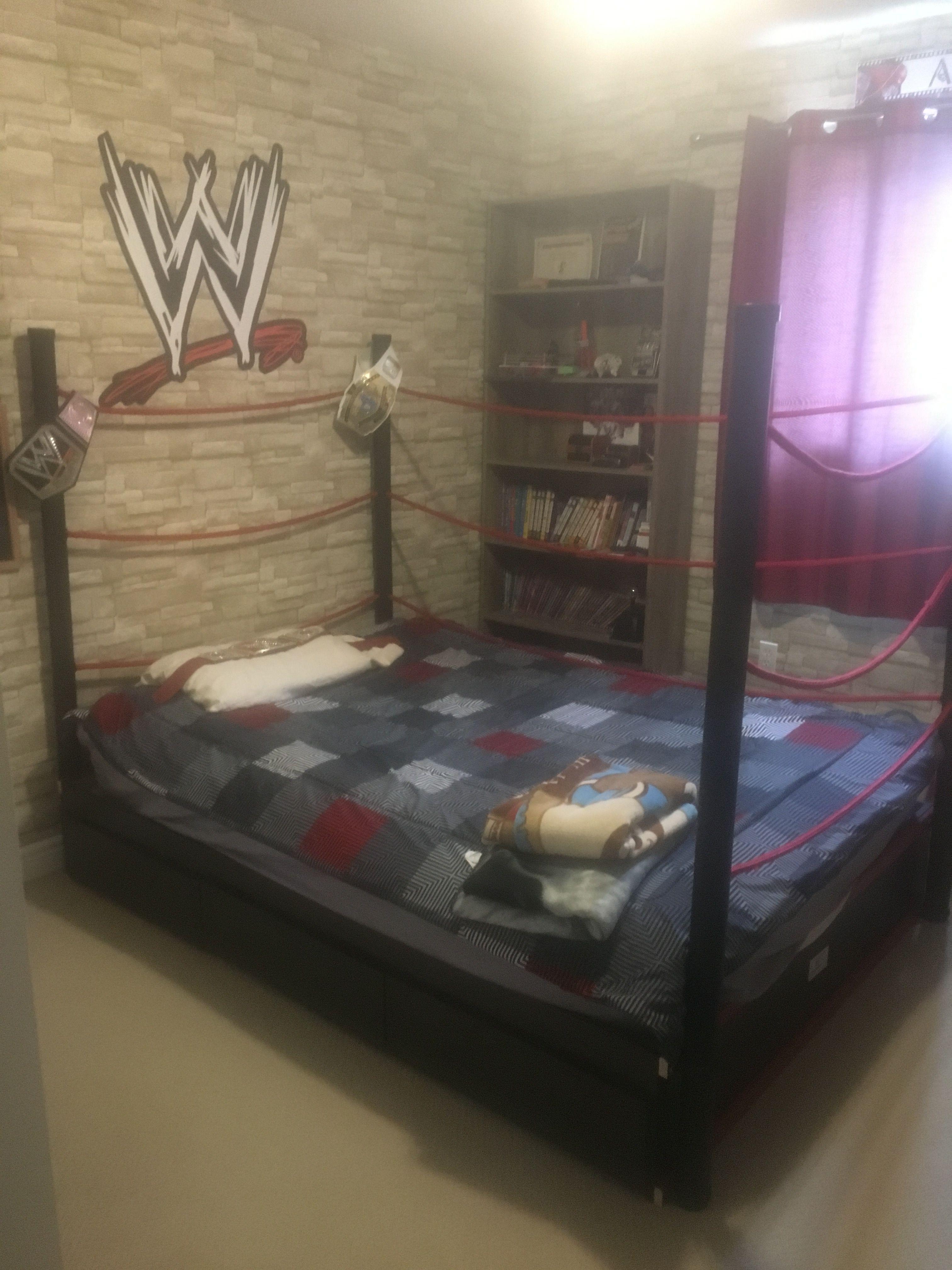 Wrestling Room Design: Wwe Wrestling Bed That I Made For My Grandson