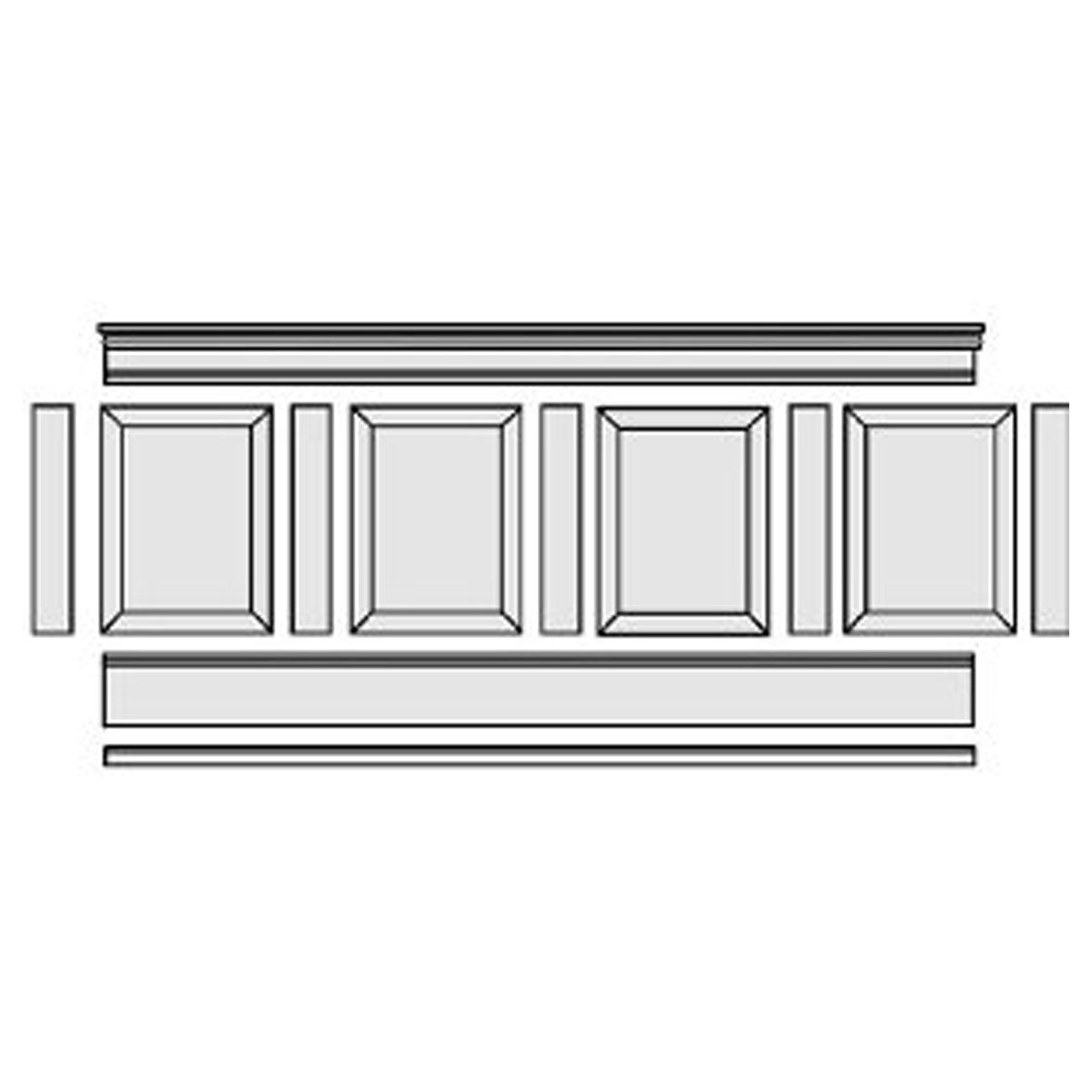 37-Inch H x 96-Inch L Adjustable Height Raised Panel Wainscoting Kit on raised panel walls, raised panel fireplace mantels, wainscot kits, raised panel wallpaper, kitchen kits,