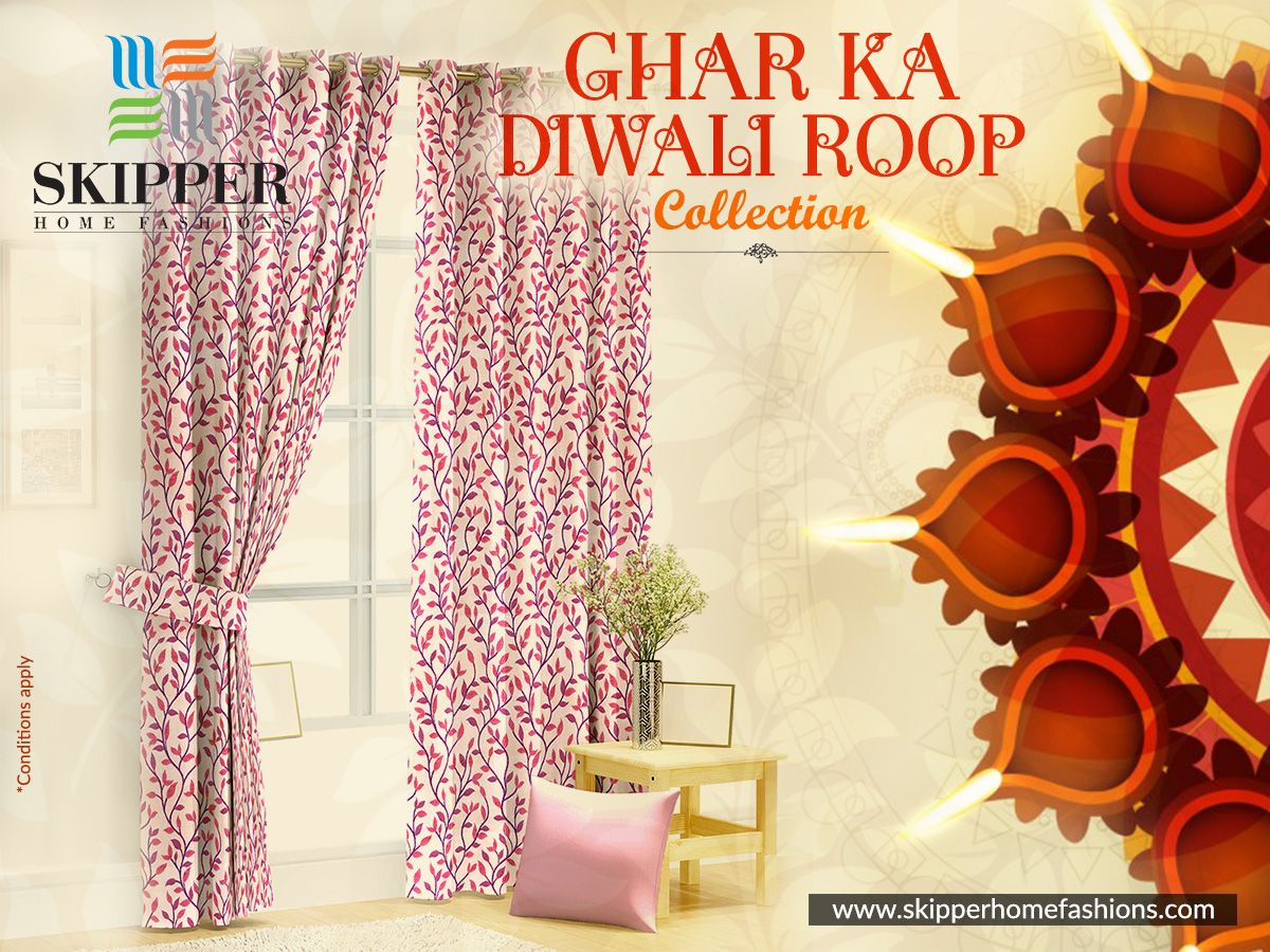 Absolute Collections Of Curtains Designed To Enhance The Beauty Of Your  Decor This Diwali Brought To You By Skipper Home Fashions.