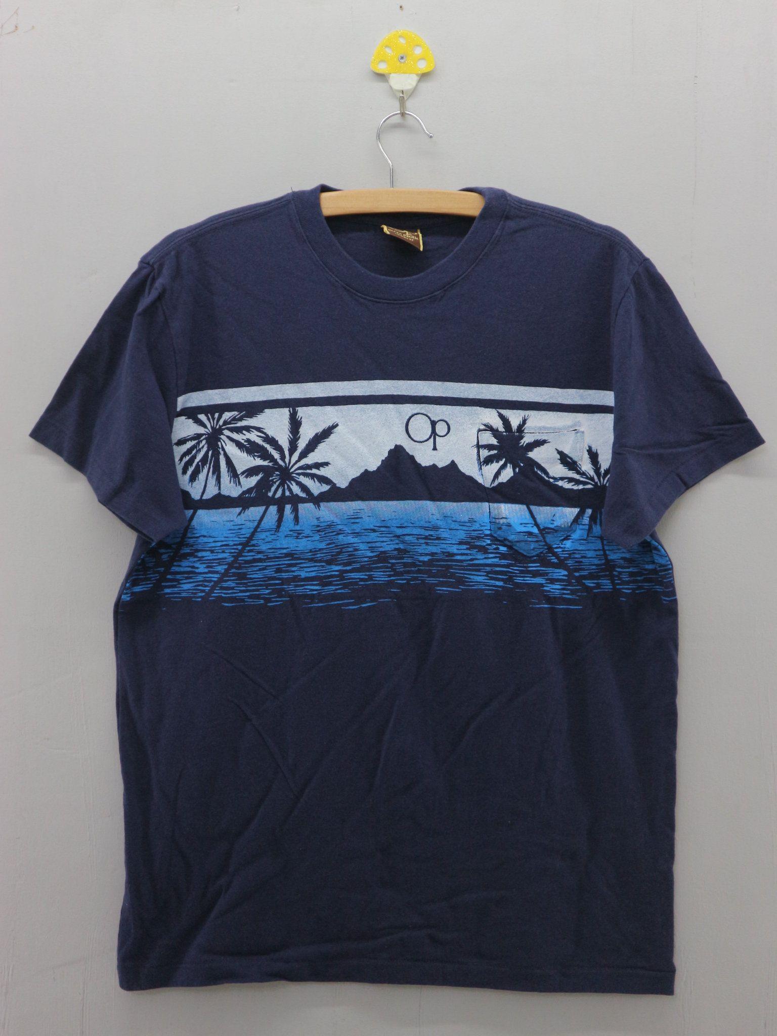 1823d76c00a50 Vintage Ocean Pacific Sunwear Big Logo T Shirt Sport Surf Aloha Hawaii Top  Tees Size M | Vintage Surf / OP Ocean Pacific | Tops, T shirt, Aloha hawaii