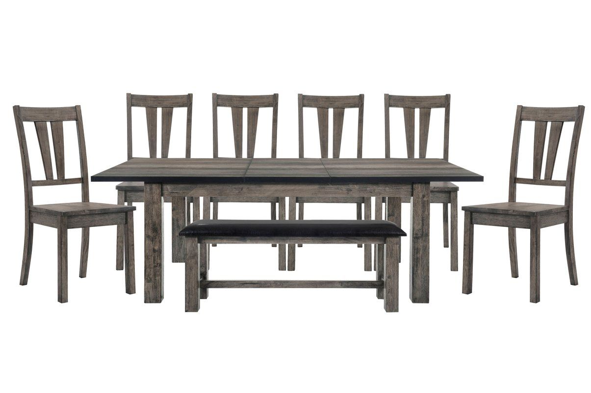 Okamoto 8 Piece Dining Set Solid Wood Table Tops Dining Table Chairs Dining Set