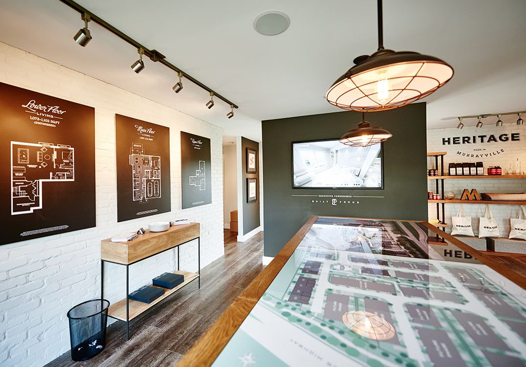 Heritage Sales Centre Free Agency Creative Graphicdesign Vancouver Branding Environment