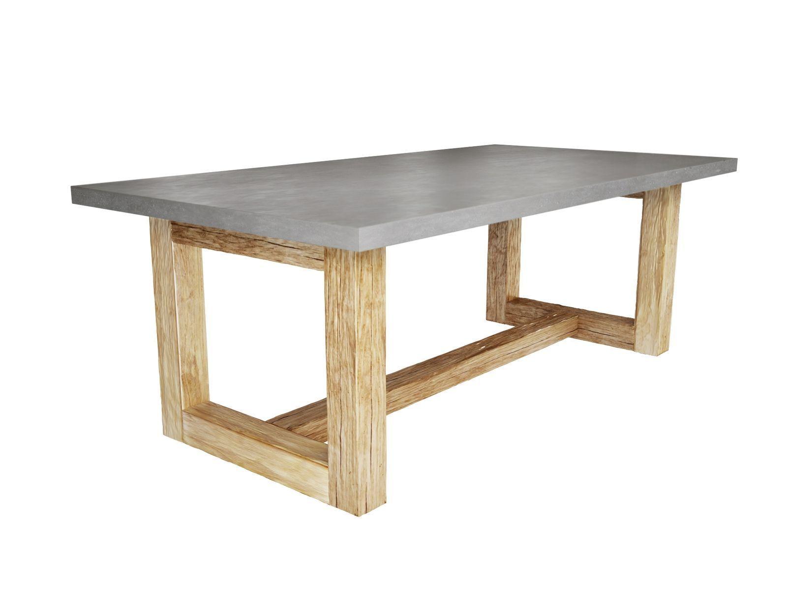 10 Trestle Table Plans Free Concrete Dining Table Concrete Coffee Table Outdoor Farmhouse Table