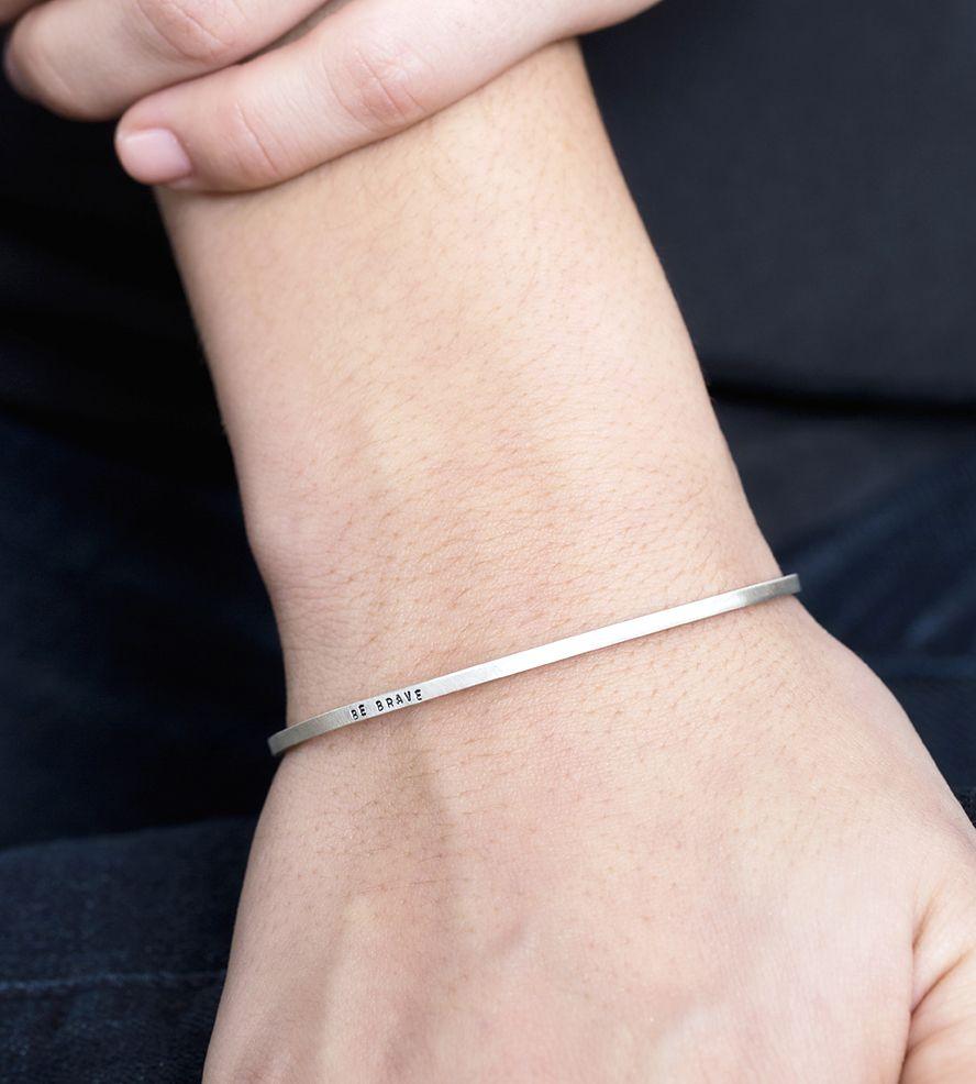 Be Brave Bracelet Cuff Whether It S An Impressive Traffic Jam Or Huge Client Meeting Bracelets