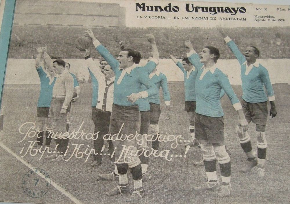 URUGUAY 1928 OLYMPIC SOCCER WORLD CUP VINTAGE ORIGINAL MAGAZINE ...