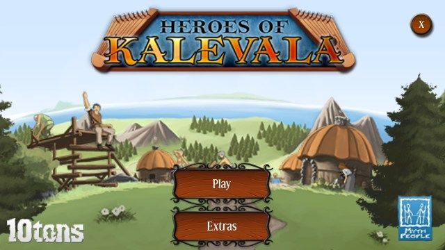 Review Heroes of Kalevala Hero, Tablet game, Match three