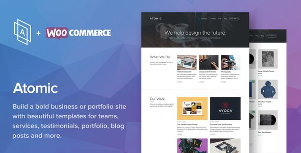 awesome Atomic - Bold Small business and Portfolio WordPress Theme ...