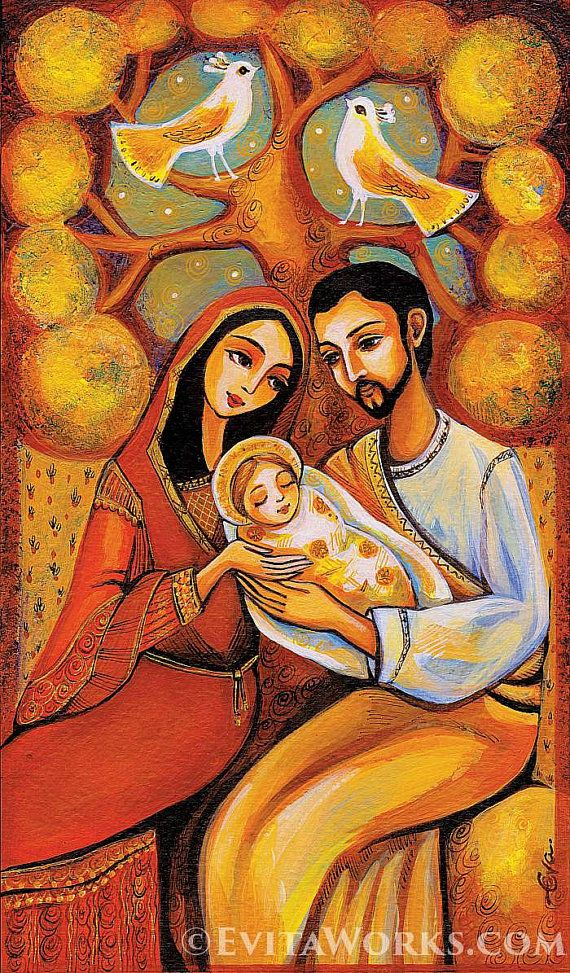 New Nativité Sainte famille vierge Marie Jésus m¨re fils par EvitaWorks Ideas - Review religious paintings Simple