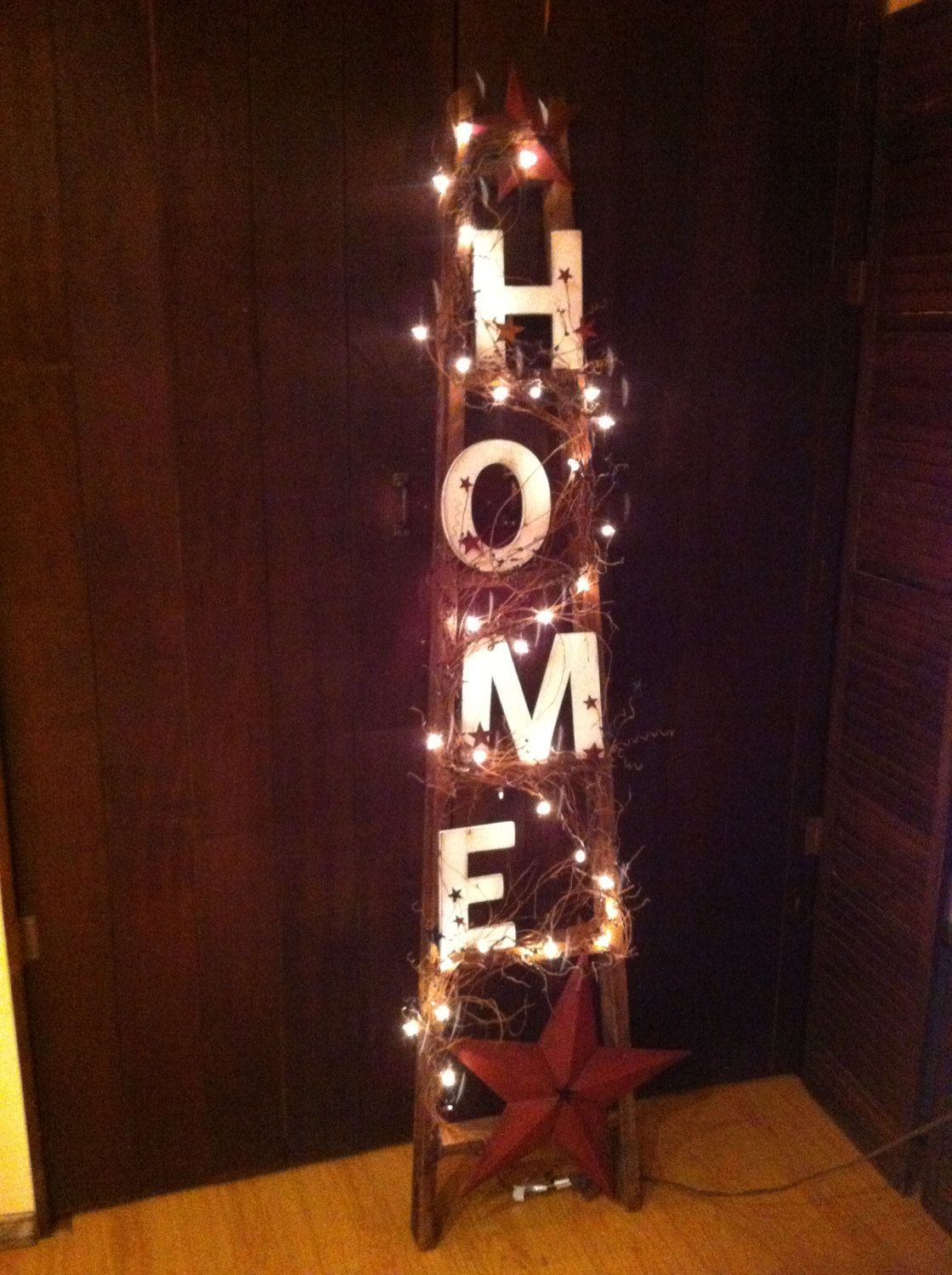 Home ft ladder by coalcountrygathering on etsy crafts pinterest