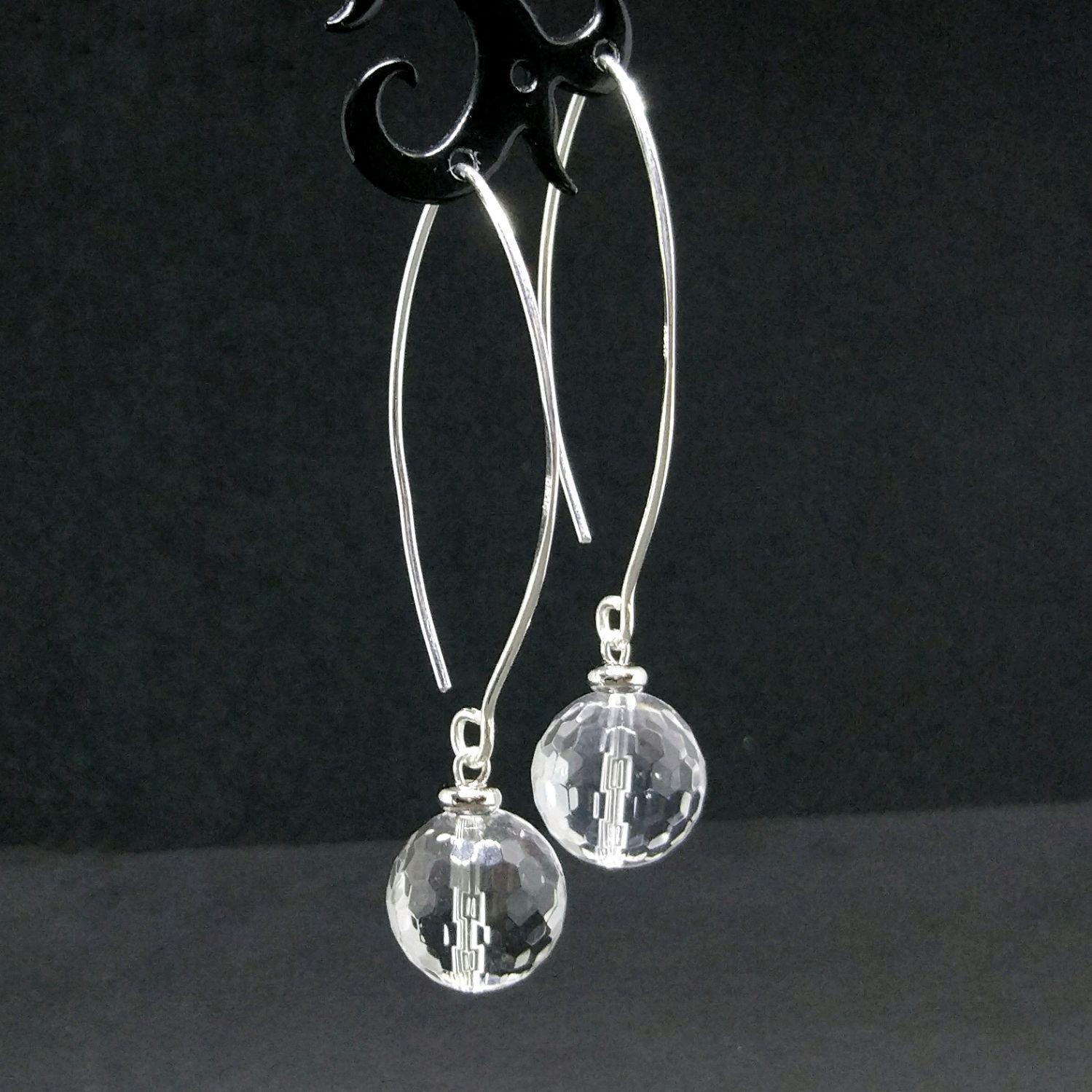 e5afa76855a5 Серьги горный хрусталь серебро 925 - купить или заказать в интернет ...