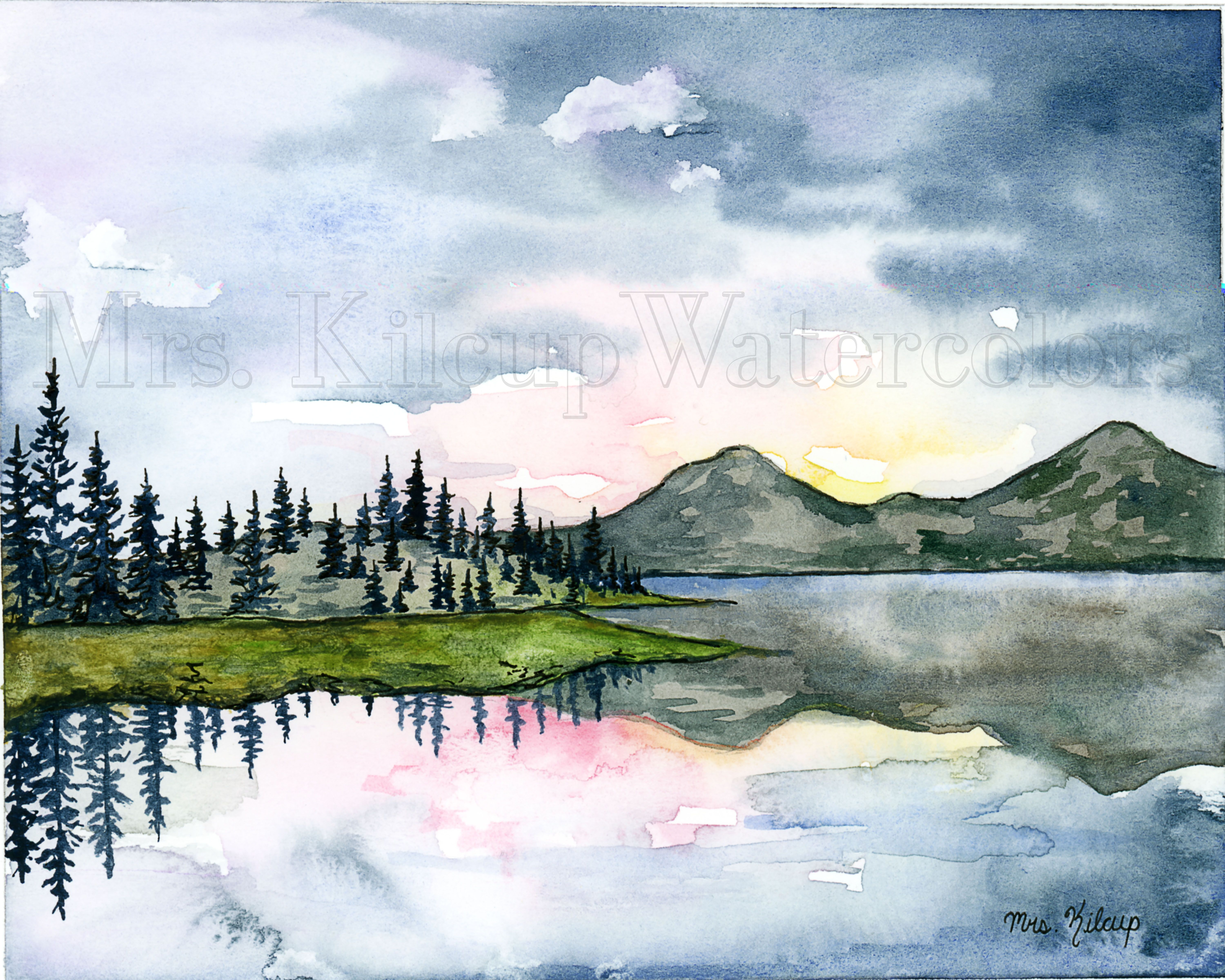 Jennie Kilcup Watercolors In 2020 Watercolor Landscape Paintings