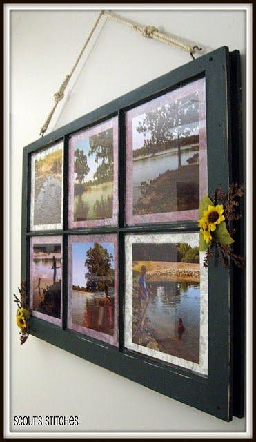 Distressed Window Frame Picture Frame Janelas Antigas Decoracao Ideias