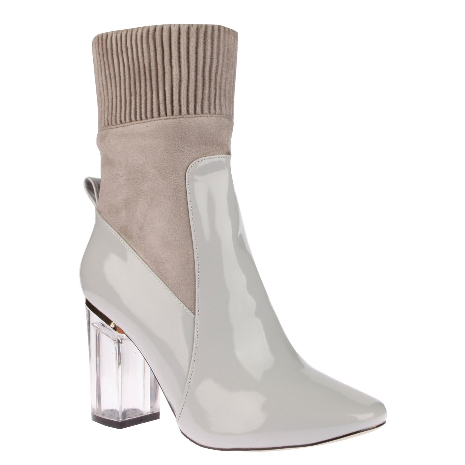 6242e0b61b THEA GREY PAT WITH CLEAR PERSPEX HEEL £34.99 #FASHION | Shoes are my ...