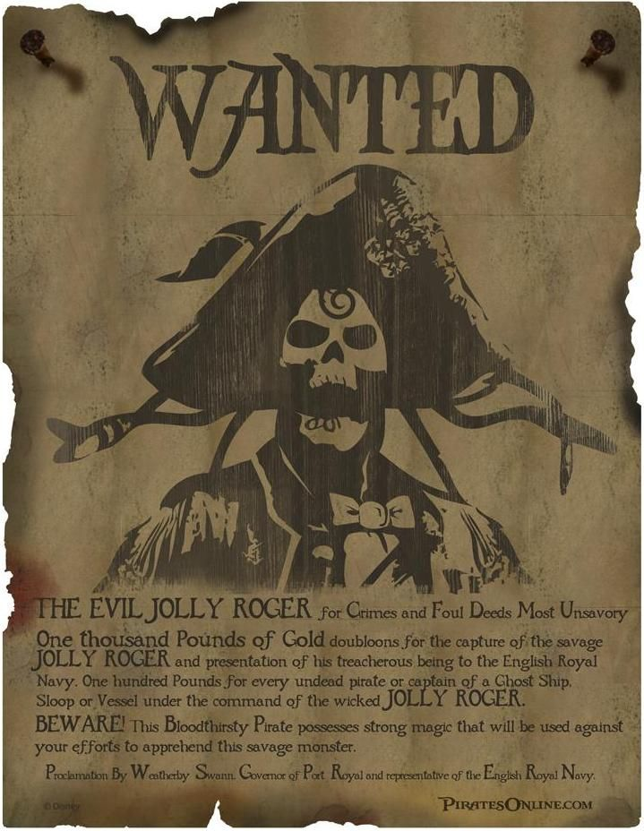 idea for pirate party Party Ideas Pinterest Pirate party - create a wanted poster free