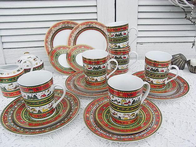 Vintage weihnachtsdeko kaffeeservice weihnachtsservice merry christmas ein designerst ck von - Vintage weihnachtsdeko ...