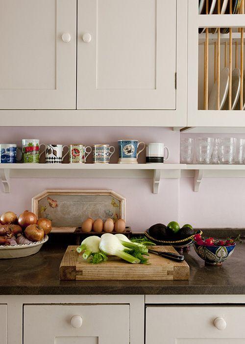 Pretty Wall Colour Upper Kitchen Cabinets Kitchen Cabinets Kitchen Cabinet Shelves