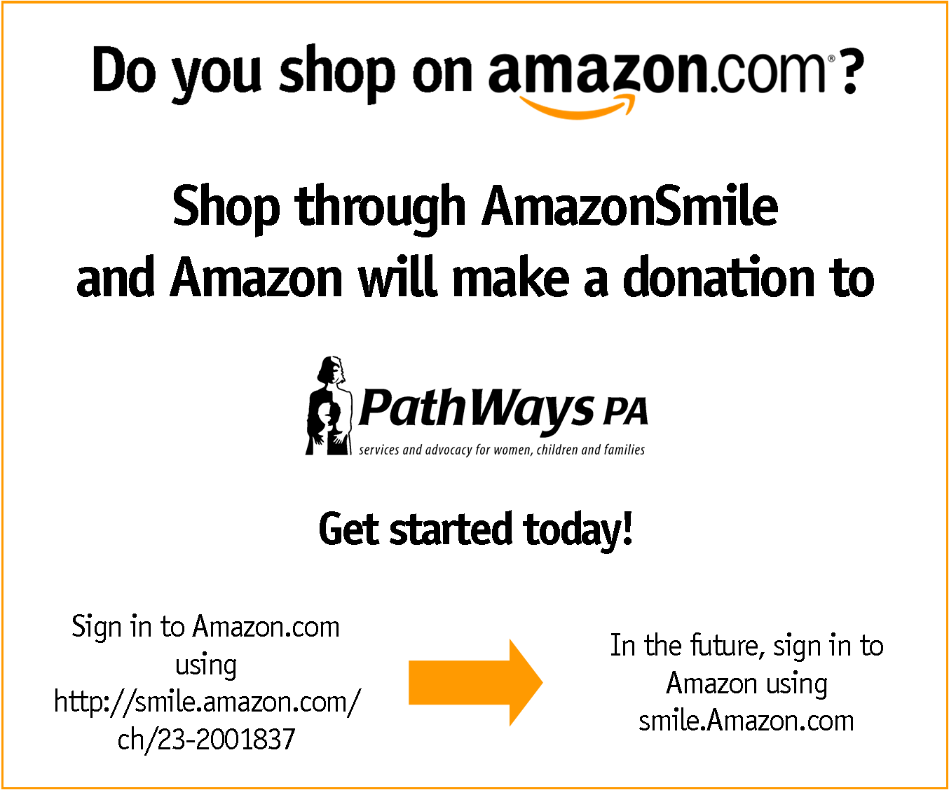 If You Shop On Amazon You Can Donate To Pathways Pa At The Same Time 5 Of Your Purchase Will Be Donated To Pathways Amazon Amazon Shopping Make A Donation