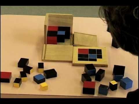 Montessori Sensorial Curriculum Demonstrations. Binomial Cube