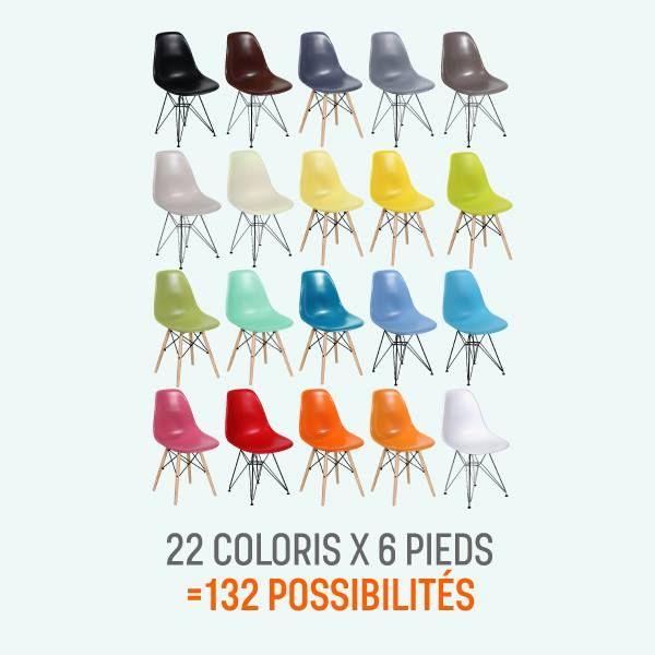 jamais autant de coloris pour les chaises eames http://www ... - Copie Chaise Eames Dsw