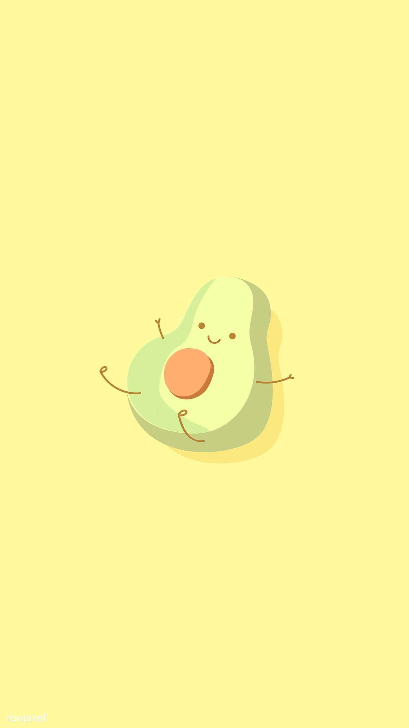 Half An Avocado Character Phone Background Vector Free Image By Rawpixel Com Techi In 2020 Cute Cartoon Wallpapers Avocado Cartoon Cartoon Wallpaper