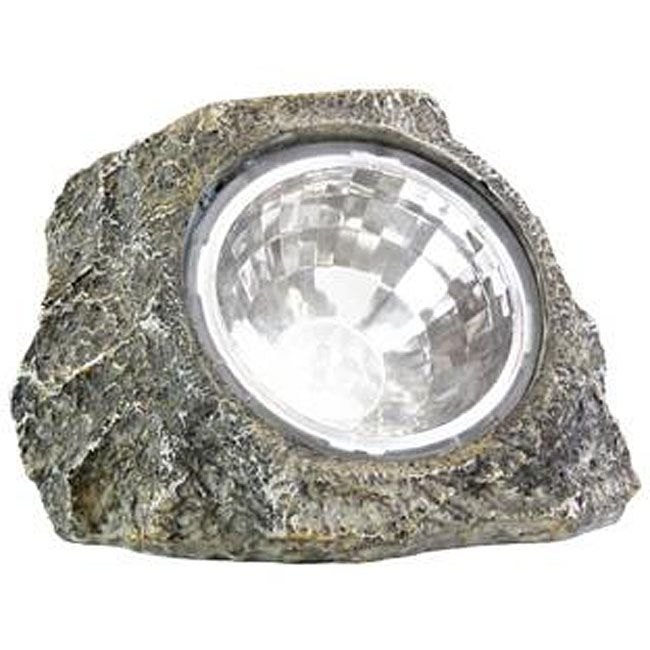 Perfect Keep Your Sidewalk Well Lit Without Extra Energy Bills Using This Set Of  Six Rock Shaped LED Solar Spot Lights. These LED Solar Spotlights Power Up  ... Pictures Gallery