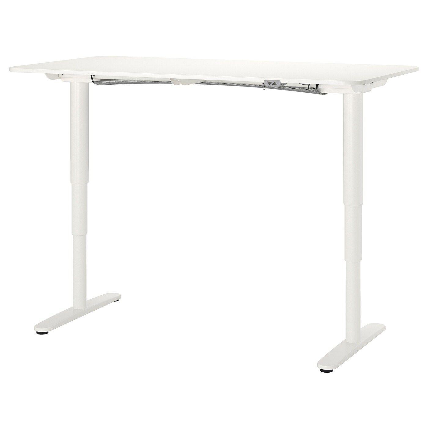 Bekant Schreibtisch Sitz Steh Weiss Ikea Deutschland In 2020 Ikea Design Verstellbarer Tisch Schreibtisch