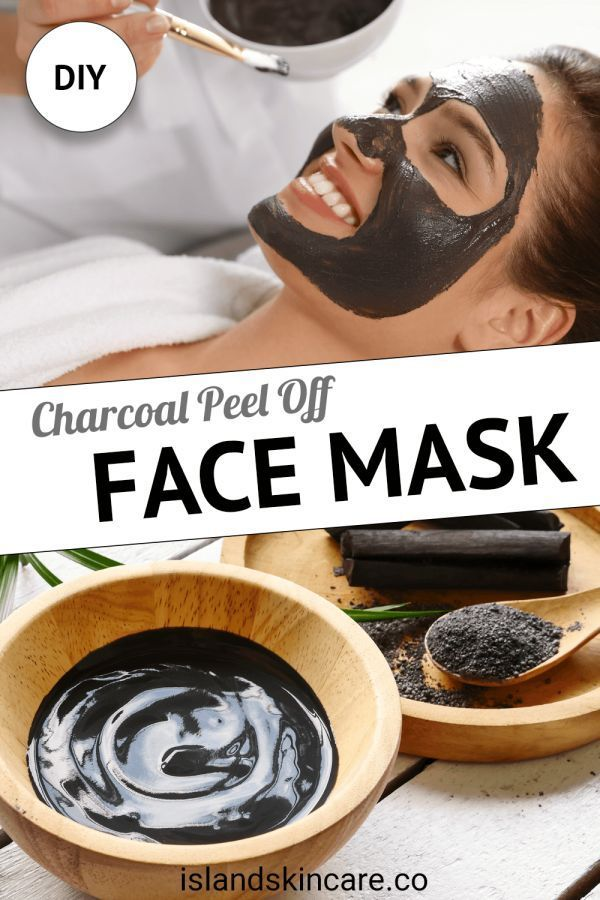 DIY4 charcoal peel off #homemadefacelotion