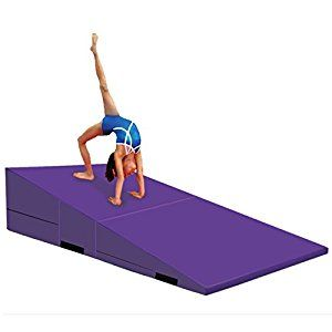 Amazon Com Gymmatsdirect Folding Gymnastics Incline Mat Large Cheese Wedge Ramp Skill S Gymnastics Equipment Gymnastics Equipment For Home Gymnastics At Home