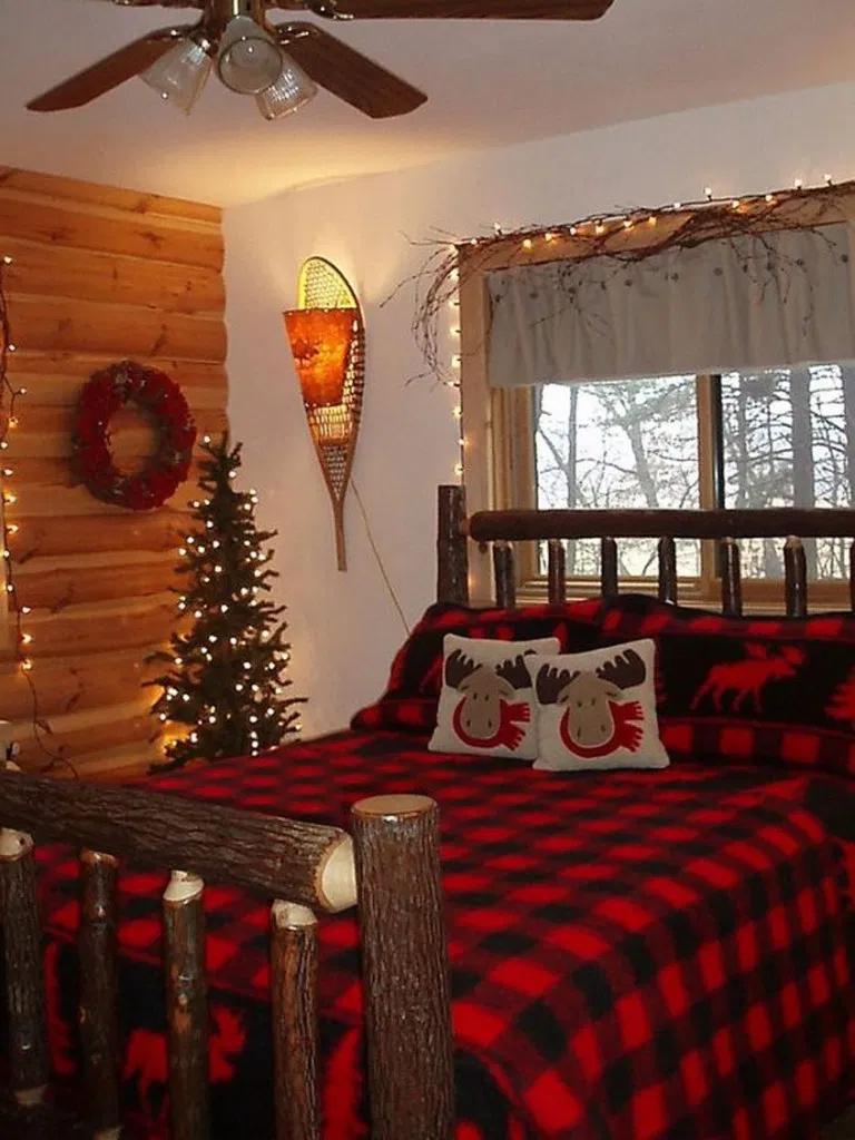 19 Elegant Farmhouse Christmas Decor Ideas For Bedroom 9 Idee Decoration Chambre Chambre D Hiver Chambre De Noel