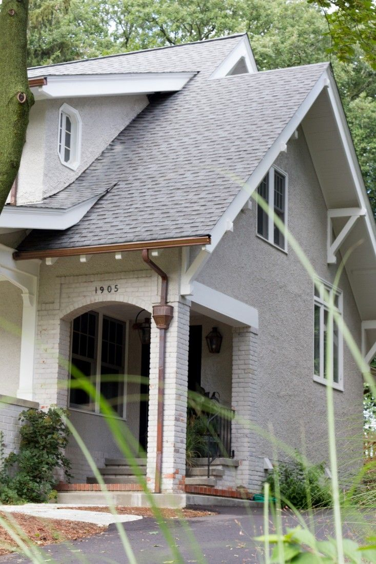 Pattern Language A Textiles Enthusiast At Home In Ann Arbor House Exterior House Designs Exterior House Gutters