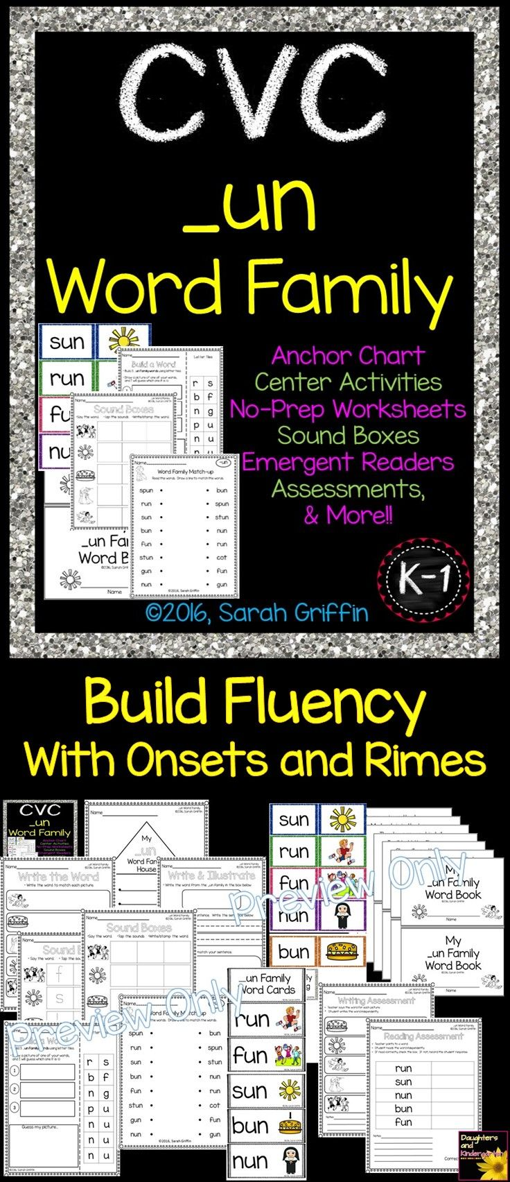 Un Word Family Cvc Worksheets Word Cards Self Checking Center Activity Writing Assessment Reading As Word Families Cvc Word Families Word Family Activities [ 1704 x 736 Pixel ]