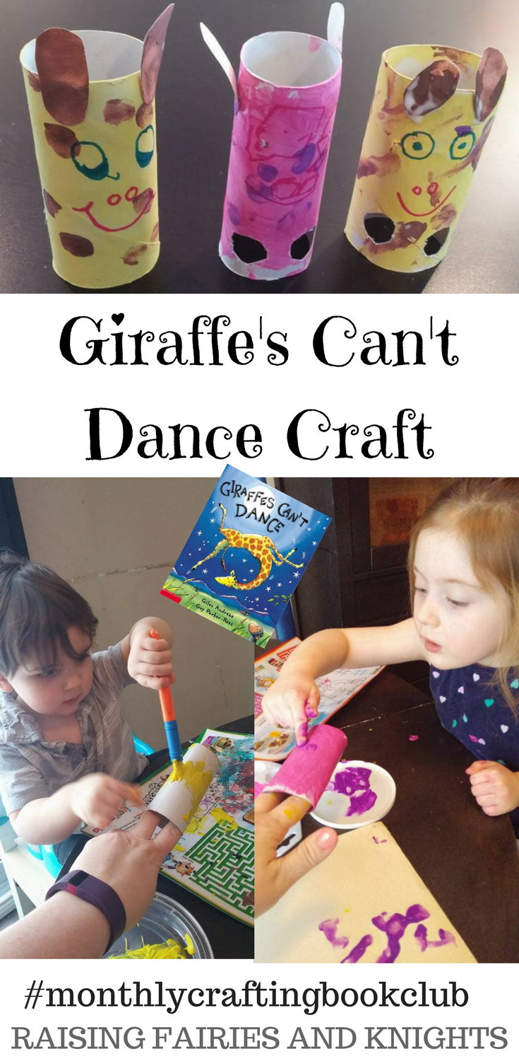 Giraffe's Can't Dance Craft - Monthly Crafting Book Club is celebrating Giraffe's Can't Dance Crafts this month with a group of bloggers and crafts to show that Giraffes CAN dance.