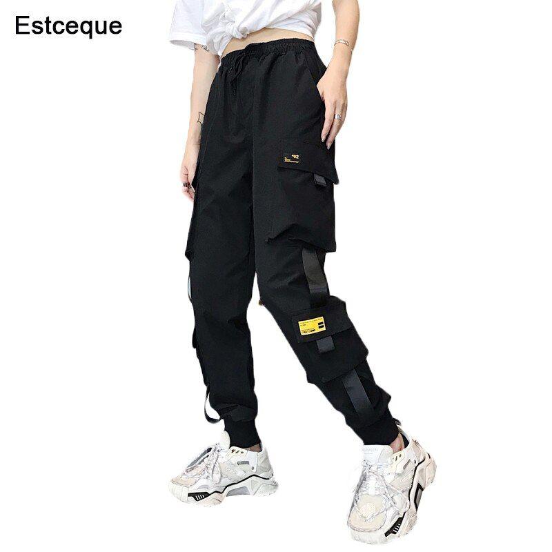 Nuevos Pantalones Cargo Con Bolsillos Grandes Ropa Informal Suelta De Cintura Alta Para Mujer Pantalones Tacticos Holgados Pantalones De Hip Hop Pantalones Pantalones Cargo Pantalones Cargo Mujer Ropa